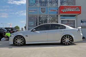 holden with g8 f series wheels  | HOLDEN