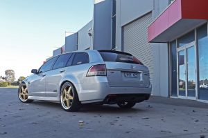 HOLDEN VE WAGON WITH 20 INCH STAR WHEELS IN GOLD  |  | HOLDEN