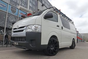 TOYOTA HI ACE WITH 20 INCH KMC 677 WHEELS  |  | TOYOTA