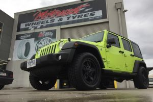 JEEP WRANGLER KMC ROCKSTAR 3 20X9 with NITTO TERRA GRAPPLER TYRES |  | JEEP