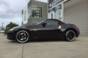 NISSAN 370ZX fitted with HR R1 20 inch Staggered |  | NISSAN