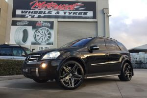 MERCEDES ML63 with 22 inch LEXANI BAVARIA WHEELS |  | MERCEDES