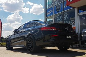 MERCEDES C63S COUPE AMG WITH ZITO ZF01 WHEELS |  | MERCEDES