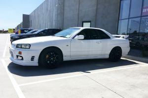 NISSAN SKYLINE WITH 18X9.5 H-556 WHEELS |  | NISSAN