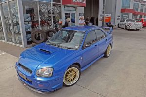 SUBARU WRX BLUE with HXR21 |  | SUBARU