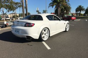 MAZDA RX8 with HR RACING R1'S - FULL WHITE | MAZDA