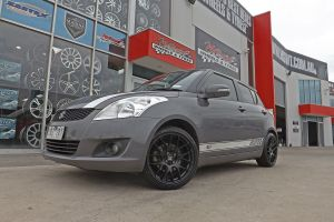 SUZUKI SWIFT WITH HUSSLA WHEELS IN BLACK  |  | SUZUKI