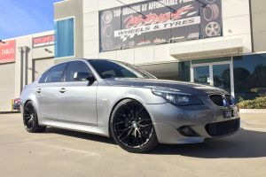 BMW 5 SERIES E60 with 20 inch BEYERN ANTLER WHEELS |  | BMW