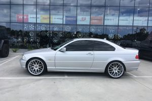 BMW 325Ci with 19X8.5 Silver Machined Face H-1060 Wheels |  | BMW