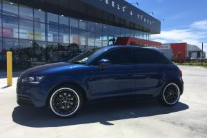 AUDI A1 WITH 18X8 GUNMETAL CSA MAKO WHEELS |  | AUDI