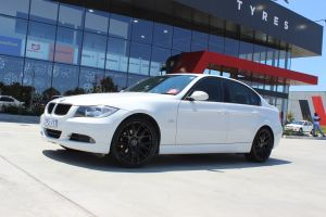 BMW E90 WITH 19X8.5 BLACK OX111 WHEELS |  | BMW