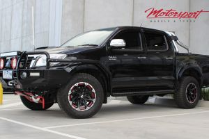 TOYOTA HILUX SR5 WITH 17X8.5 BLADE RAMPAGE WHEELS |  | TOYOTA