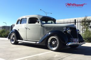 FORD HOT ROD 1936 with 17 INCH AMERICAN RACING VN511 (SALT FLAT) Wheels |  | FORD