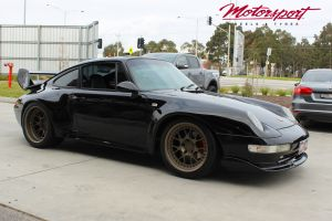 PORSCHE 911 WIDE BODY WITH 18 INCH BC FORGED LE72 WHEELS |  | PORSCHE