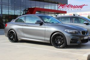 BMW 2 SERIES WITH 19 INCH MATT BLACK B-M4LACE WHEELS |  | BMW