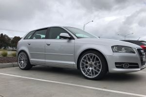 AUDI A3 WITH 19 INCH HR RACING H-1060 WHEELS |  | AUDI