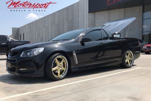 HOLDEN VF SSV UTE WITH VERTINI DRIFT GOLD MACHINED LIP WHEELS |  | HOLDEN