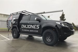 HOLDEN COLORADO with FUEL COVERT 17X9 + GOODYEAR WRANGLER TYRES |  | HOLDEN